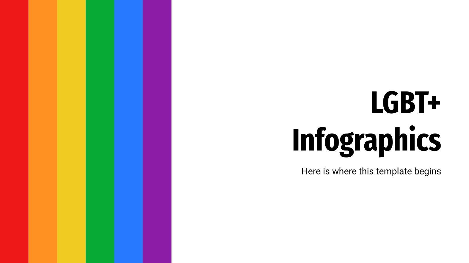 Plantilla de presentación Infografías LGTB+