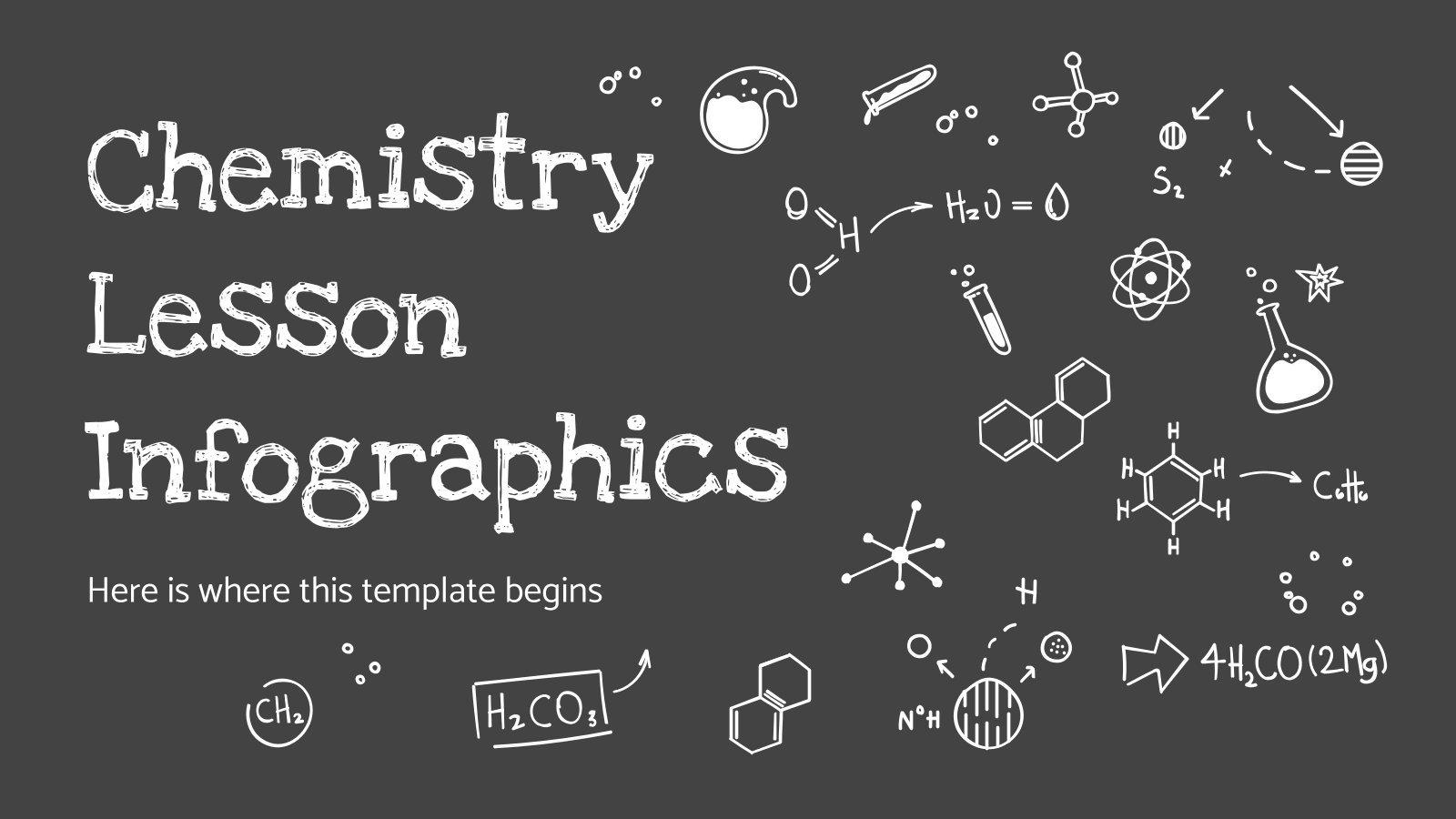 Plantilla de presentación Infografías de clase de química