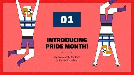 Modelo de apresentação Celebração do mês do orgulho LGTB+