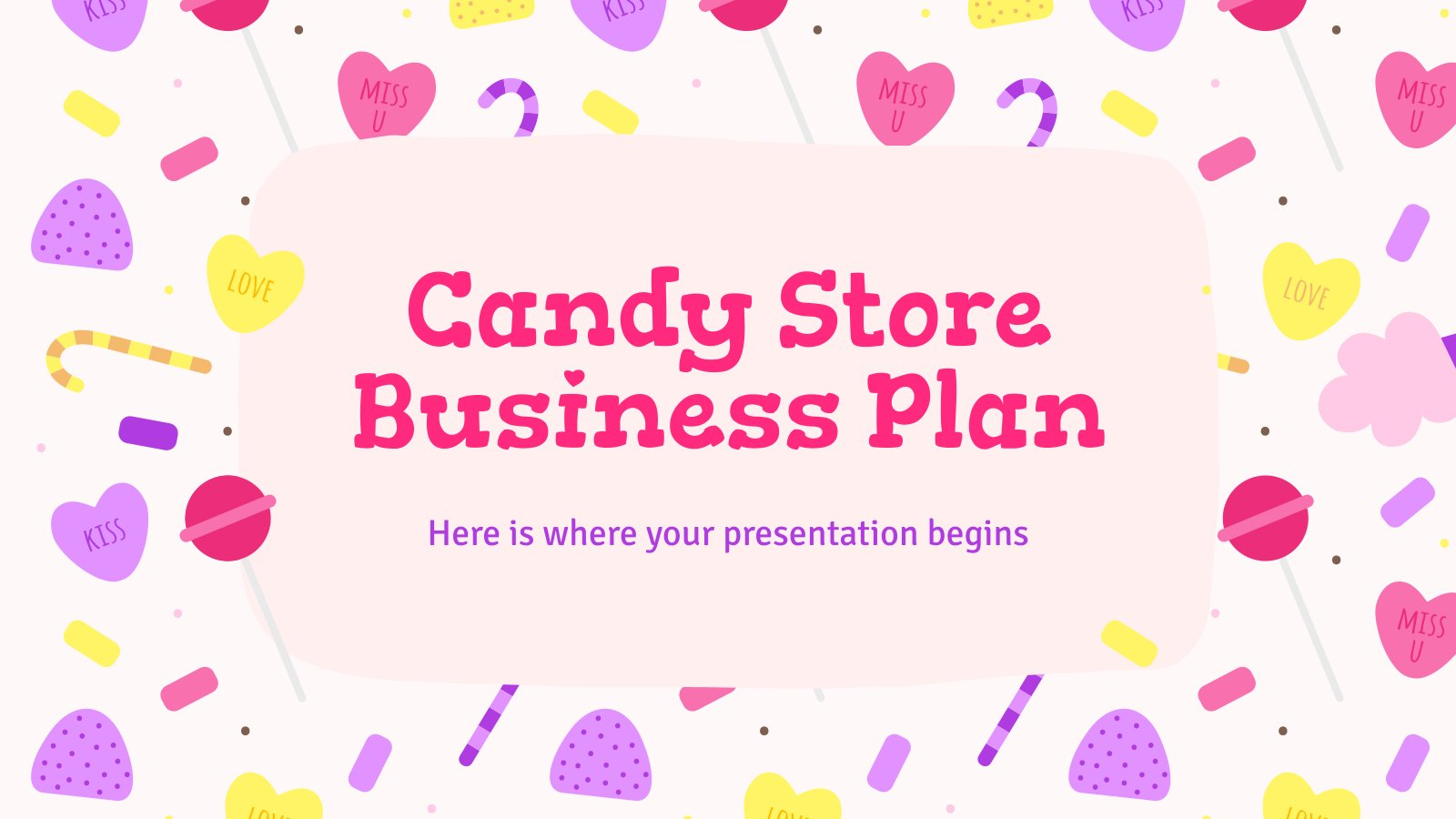 Candy Store Business Plan presentation template