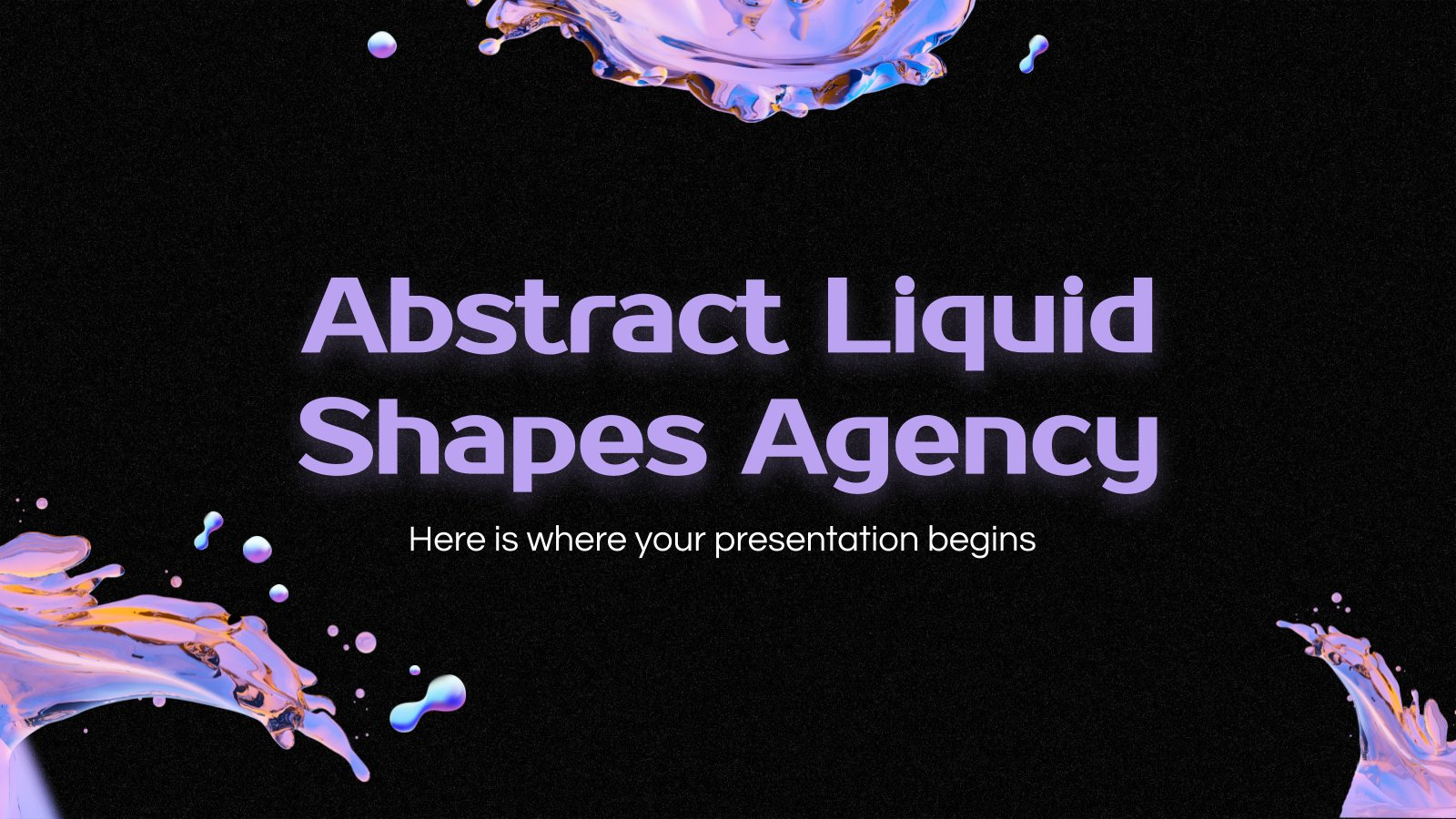 Abstract Liquid Shapes Agency presentation template