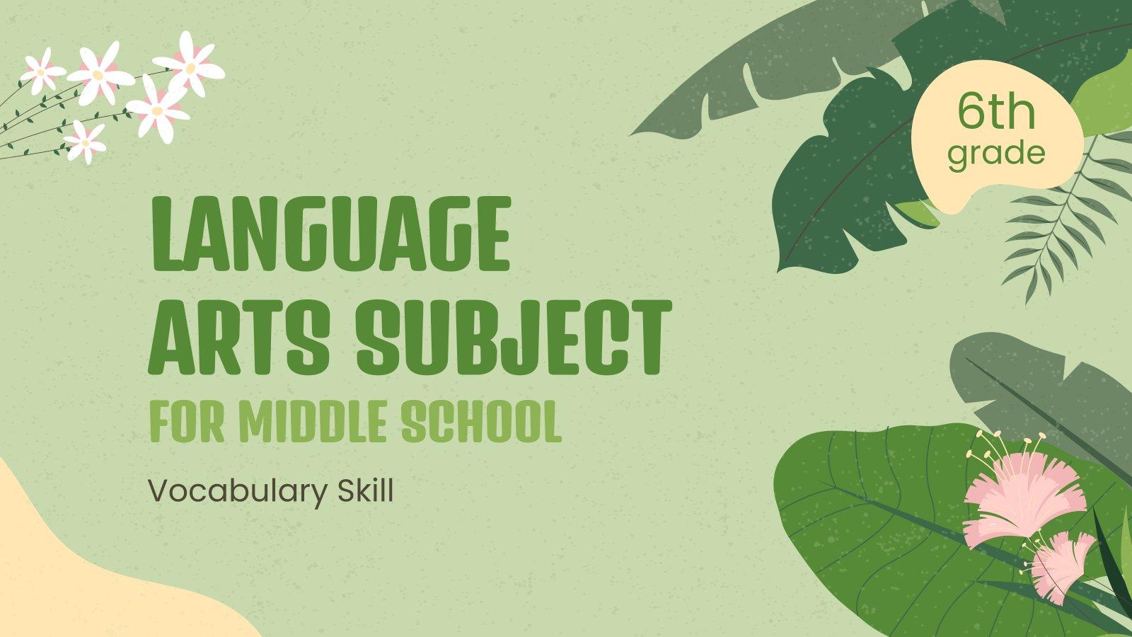 Plantilla de presentación Clase de inglés para primaria