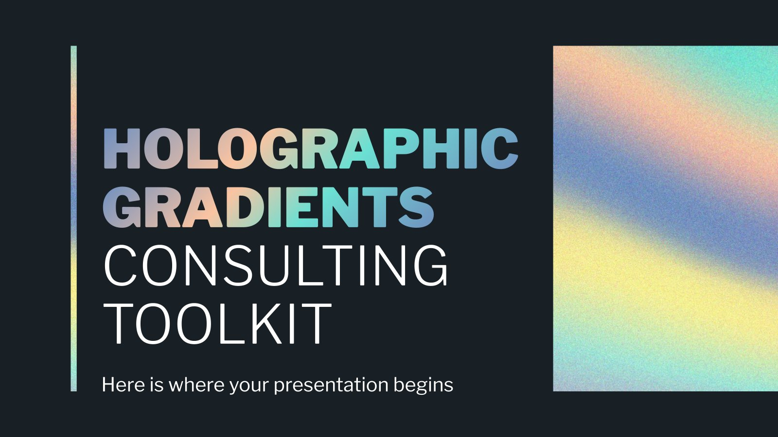 Holographic Gradients Consulting Toolkit presentation template