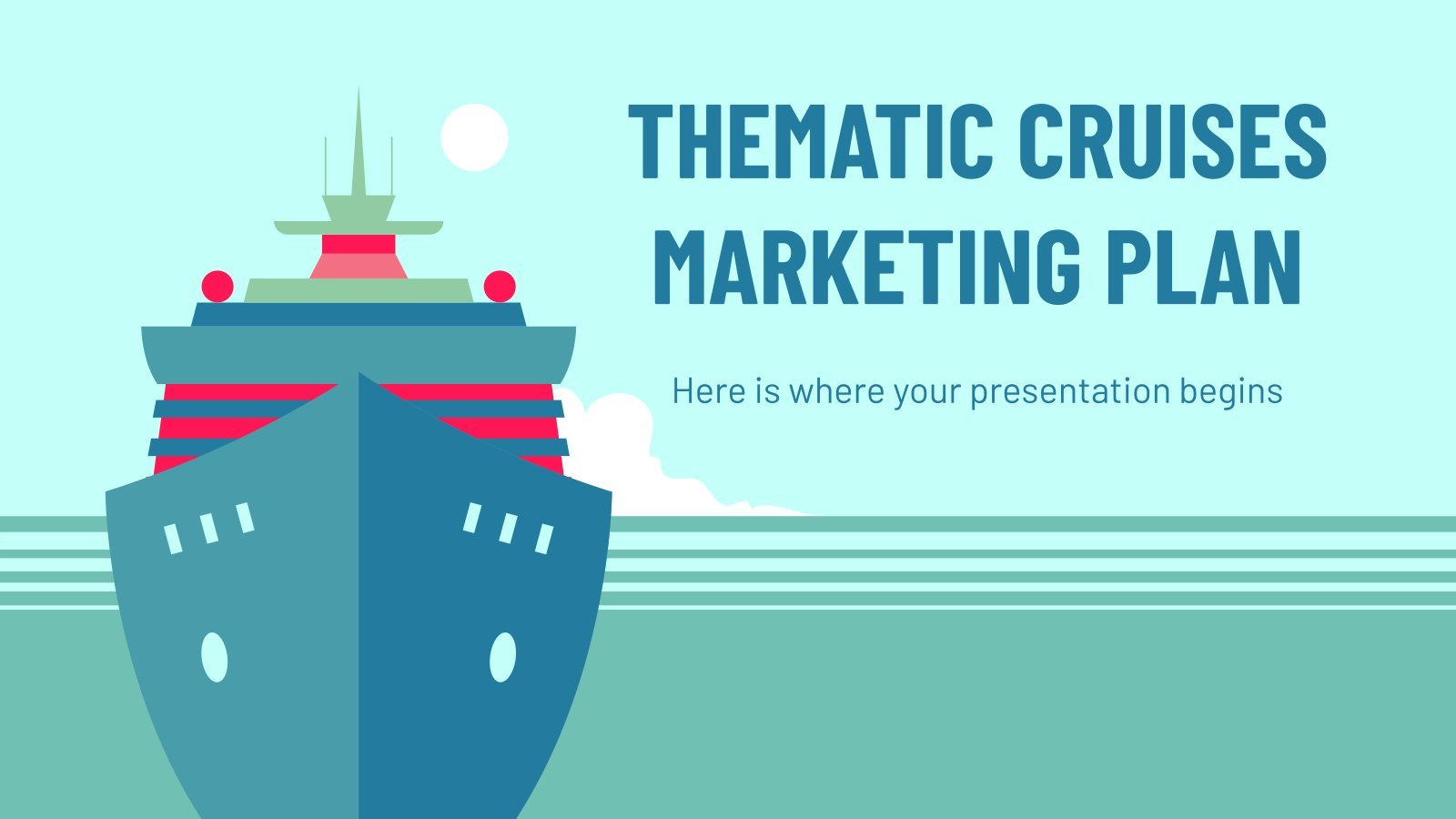 Thematic Cruises Marketing Plan presentation template