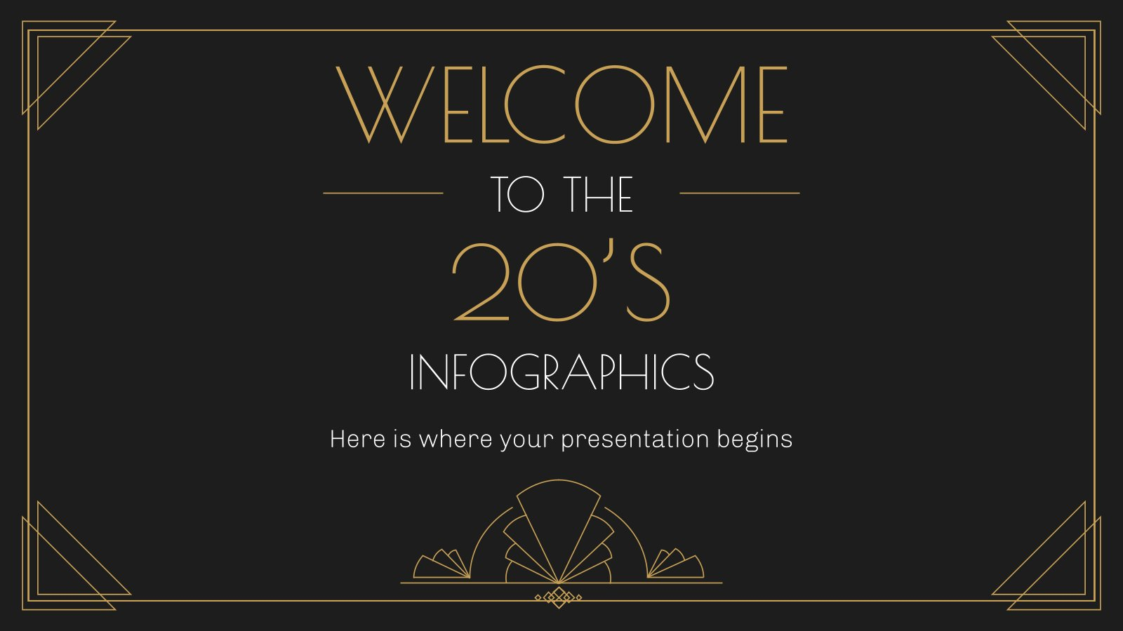 Welcome to the 20s Infographics presentation template
