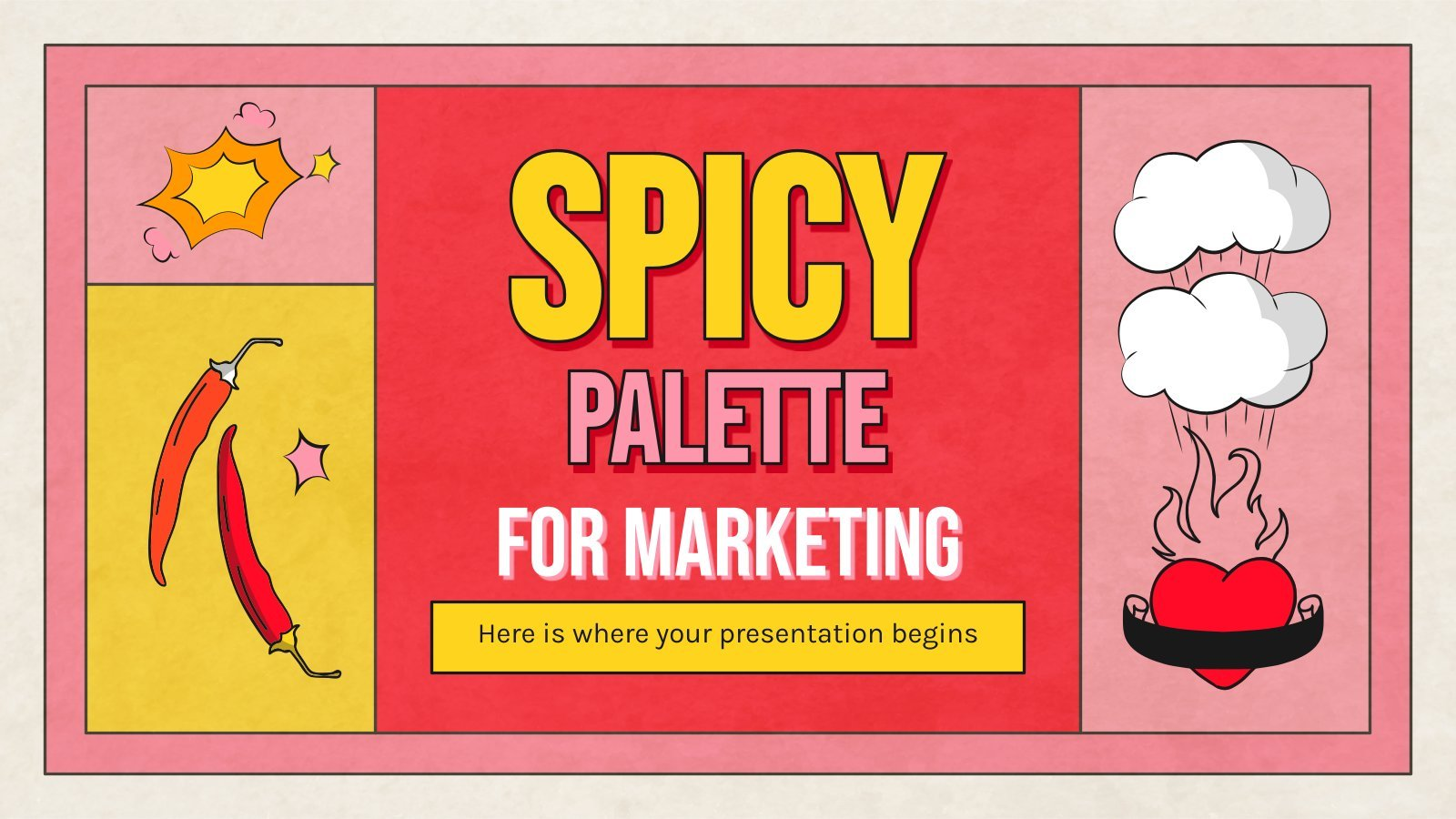 Spicy Palette Slides for Marketing presentation template