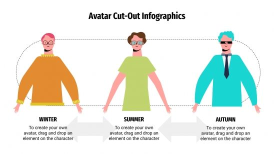 Avatar Cut-Out Infographics presentation template