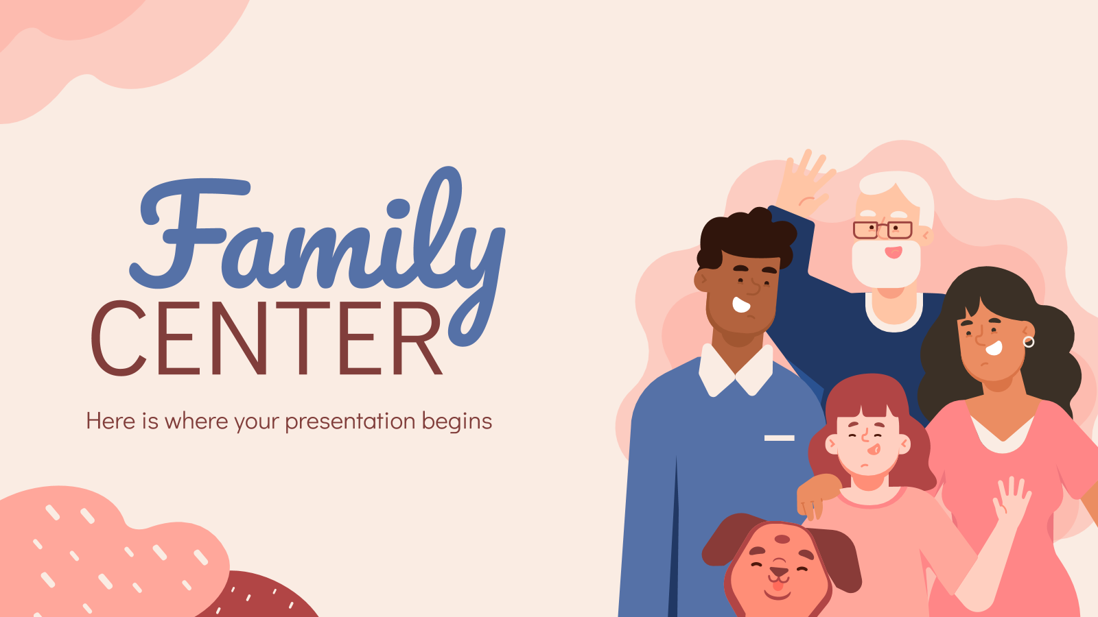 Family Center presentation template