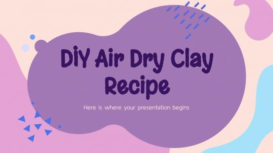 DIY Air Dry Clay Recipe presentation template