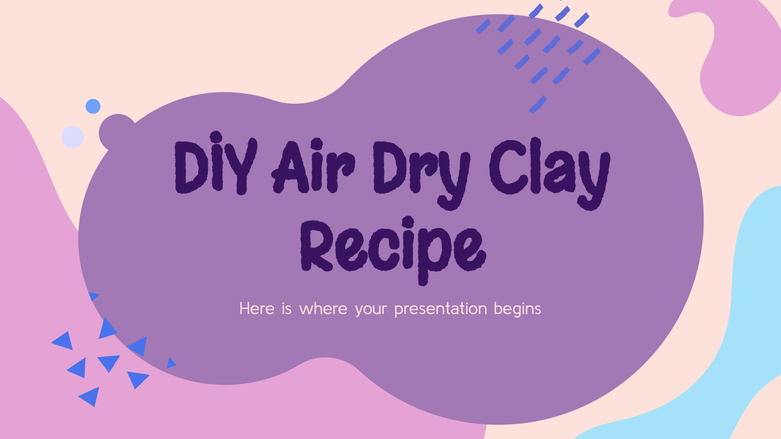 DIY Air Dry Clay Recipe presentation template