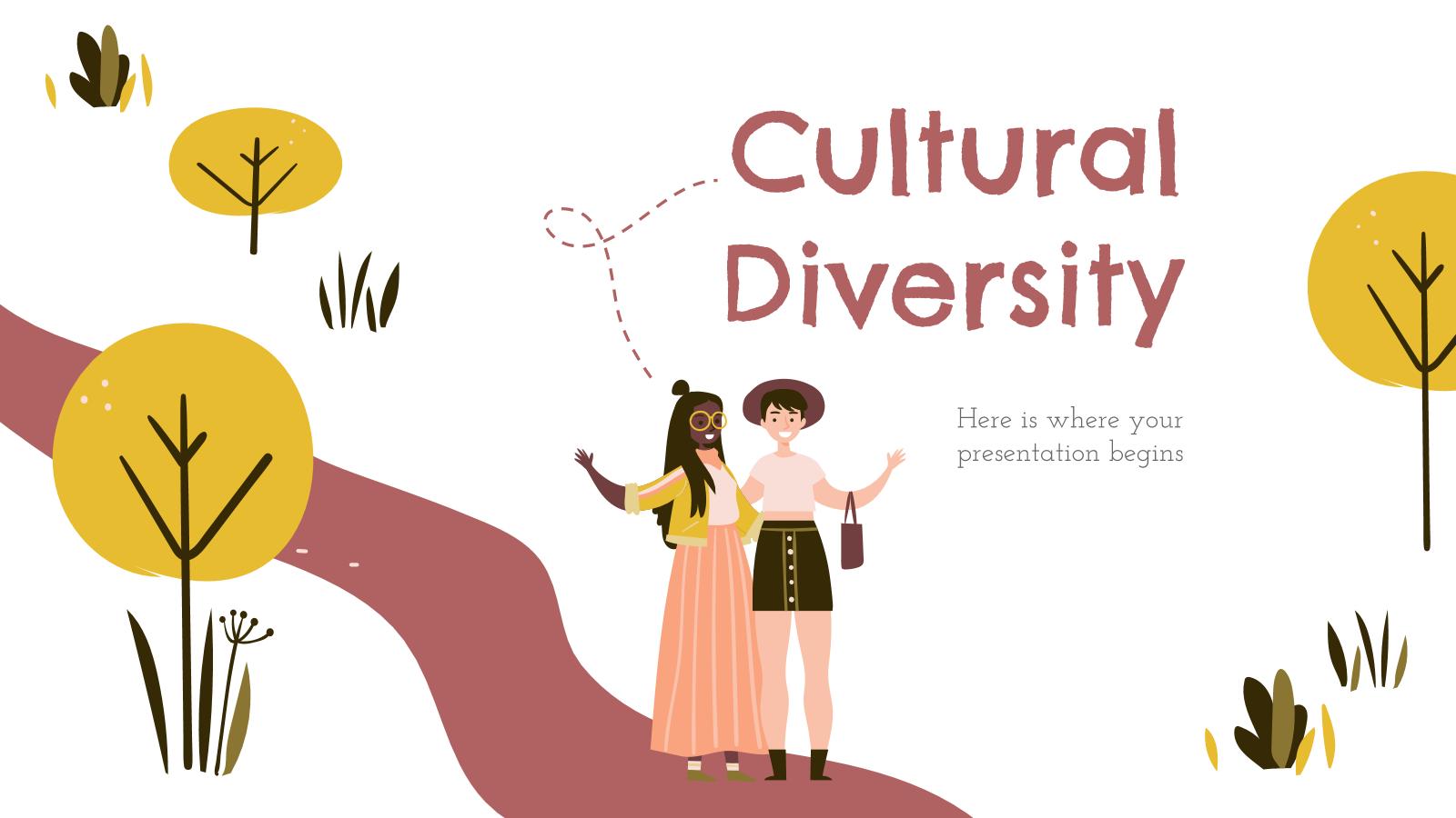 Modelo de apresentação Diversidade cultural