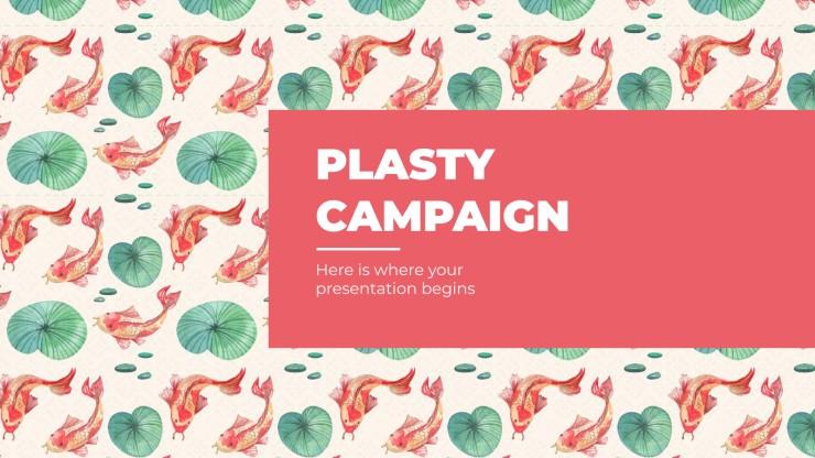 Plantilla de presentación Campaña Plasty