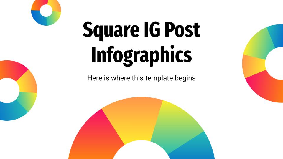 Plantilla de presentación Infografías para post de instagram