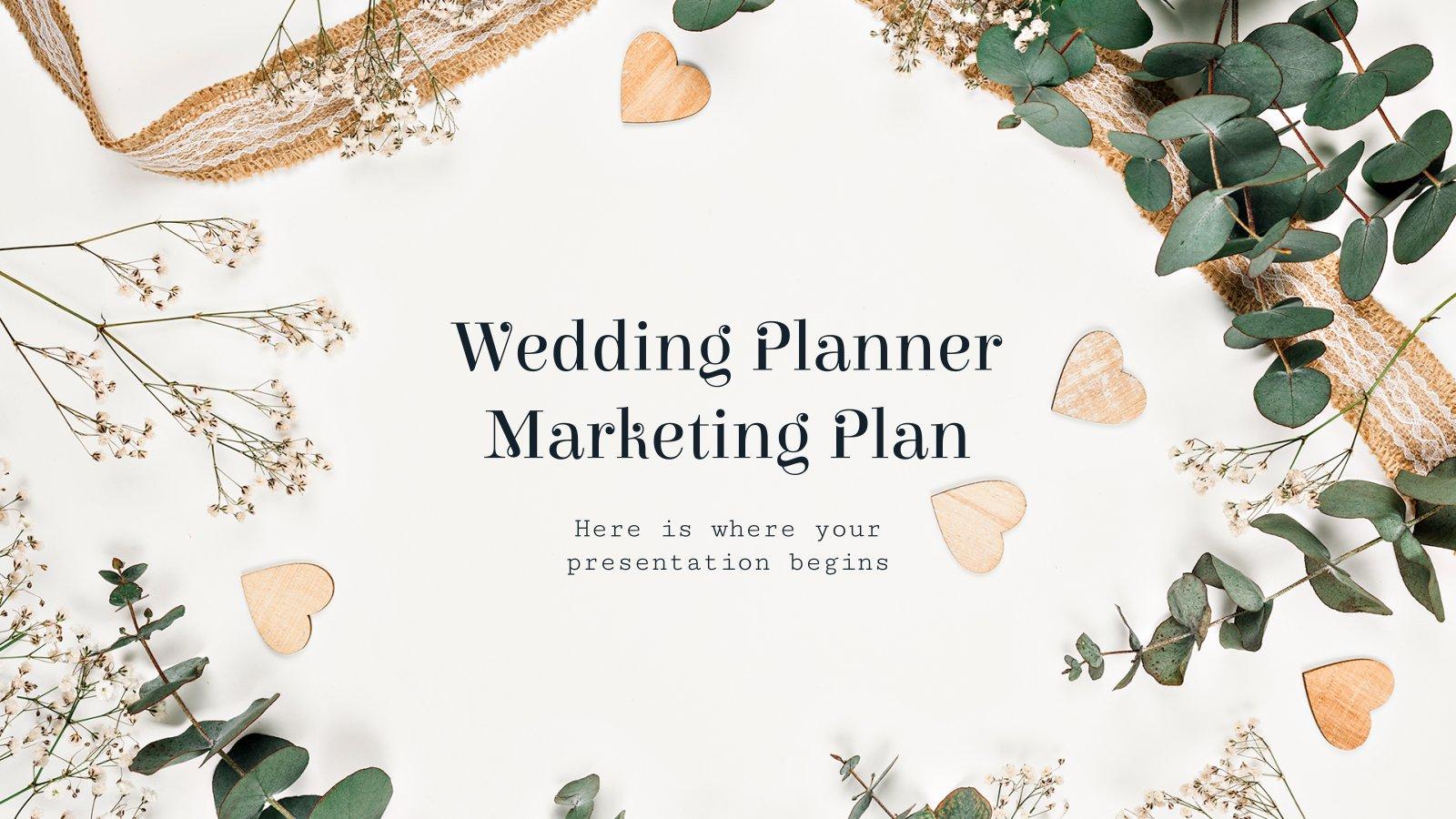 Marketingplan für Hochzeitsplaner Präsentationsvorlage