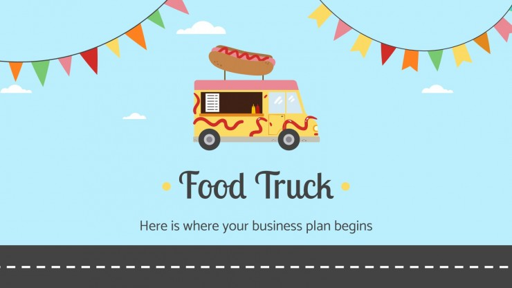 Modelo de apresentação Plano de negócios de food truck