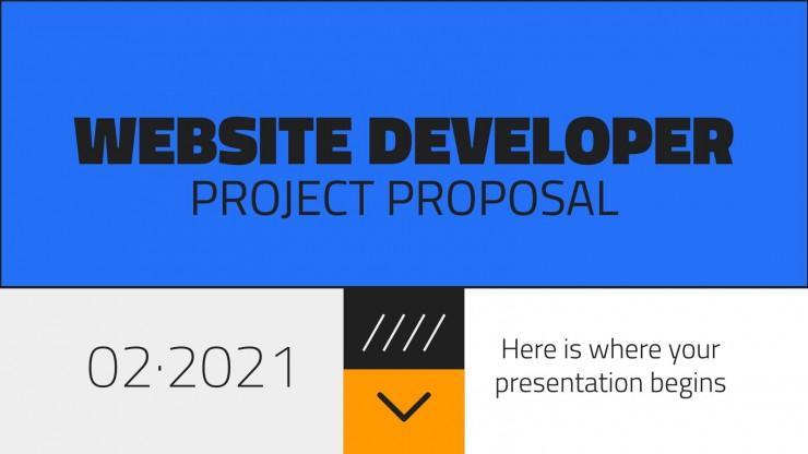 Plantilla de presentación Propuesta de proyecto de desarrollador web