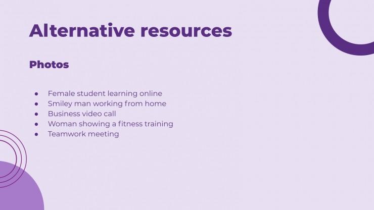 Réunion virtuelle de l'entreprise violette : Modèles de présentation