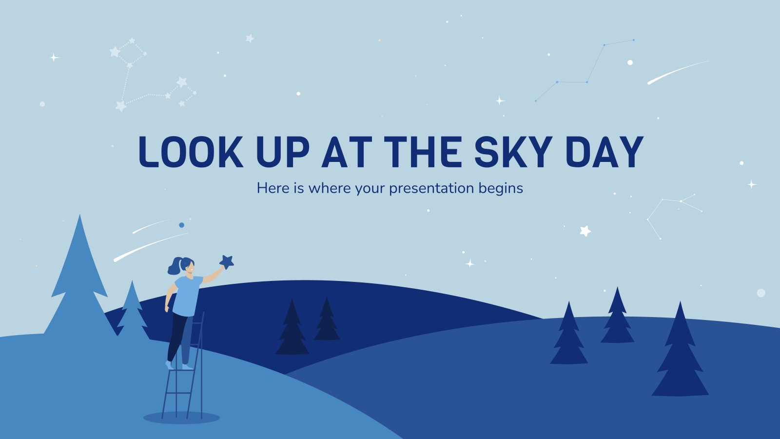 Look Up at the Sky Day presentation template