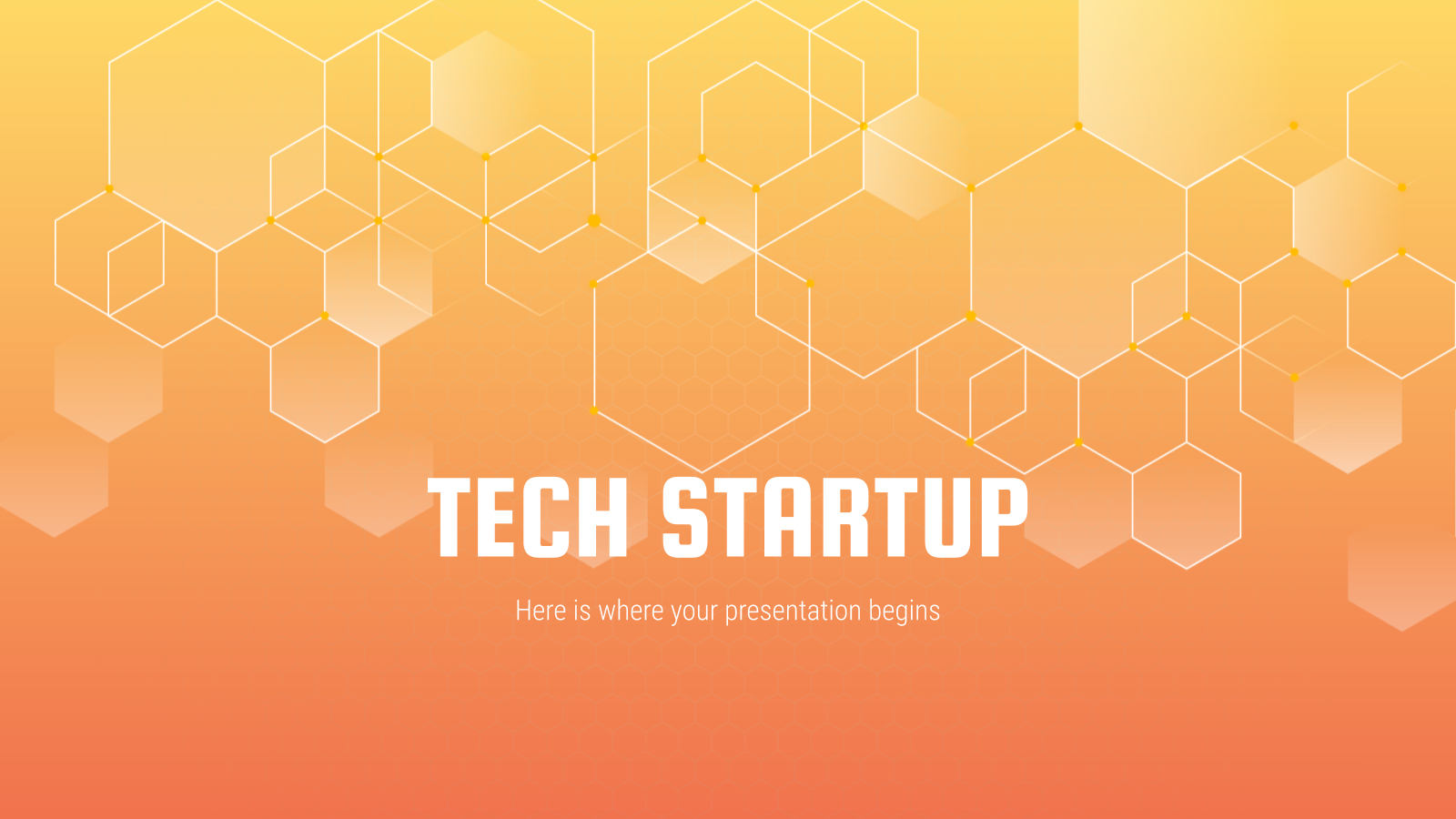 Plantilla de presentación Startup tecnológica