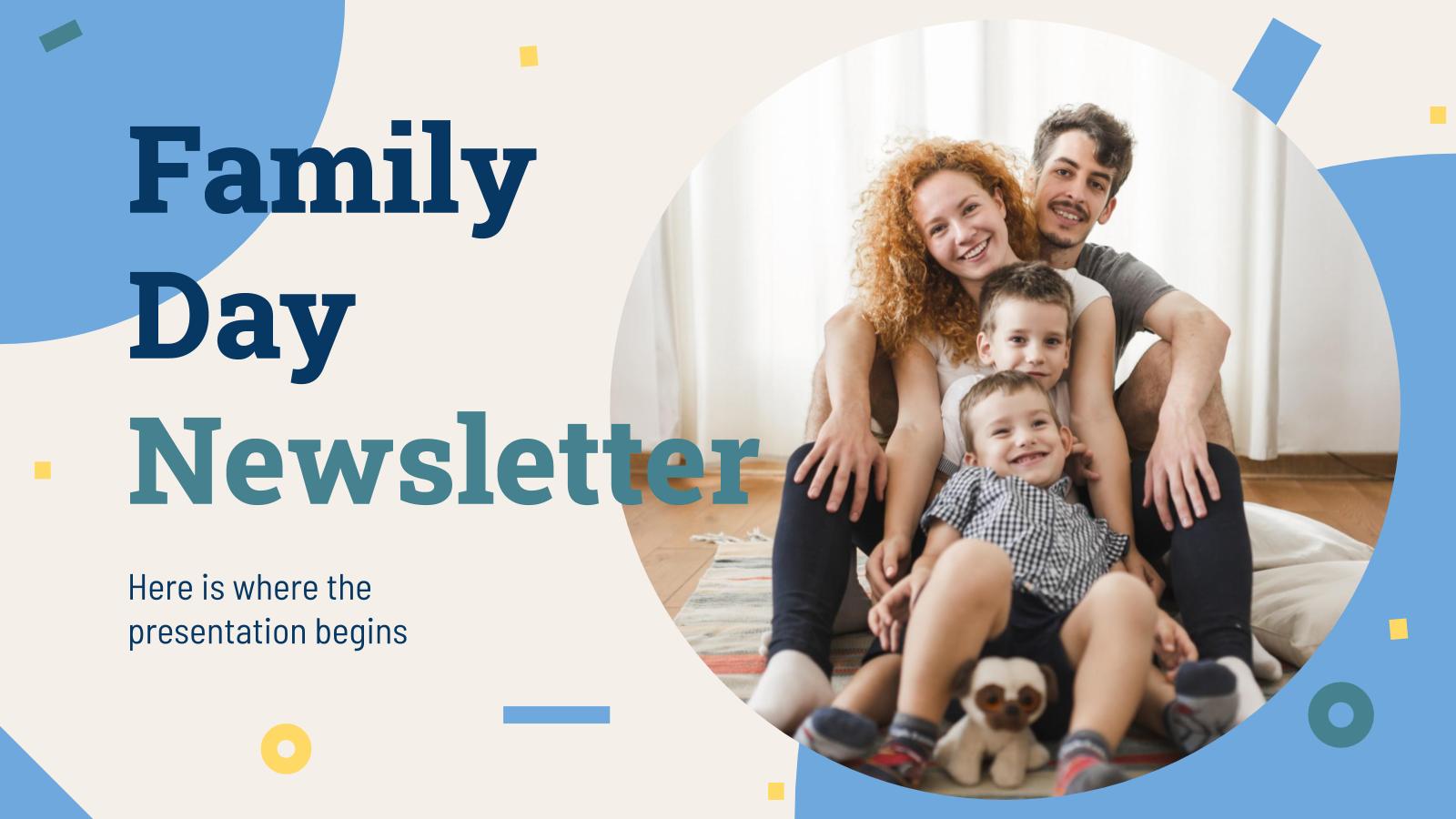 Modelo de apresentação Newsletter do Dia da Família