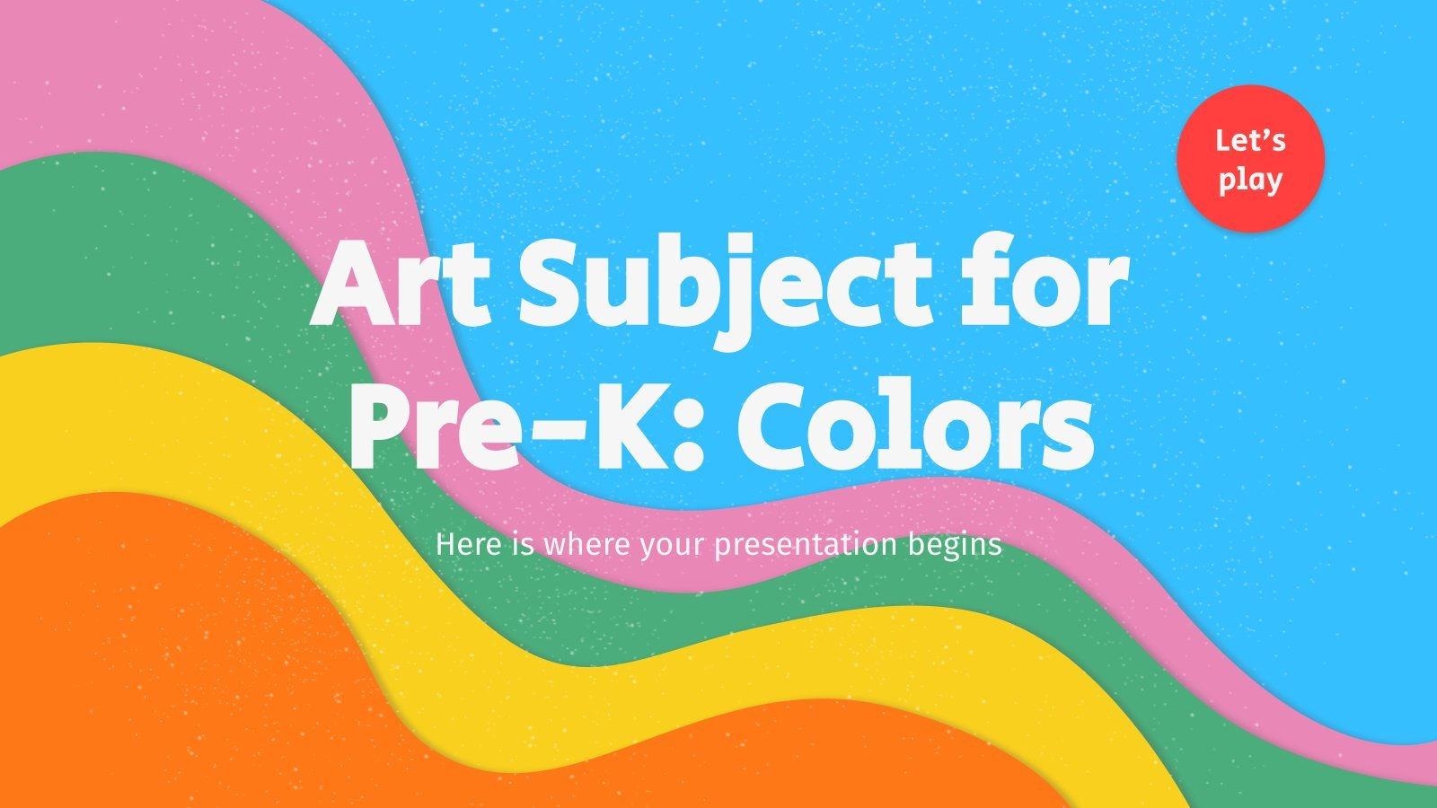 Art Subject for Pre-K: Colors presentation template