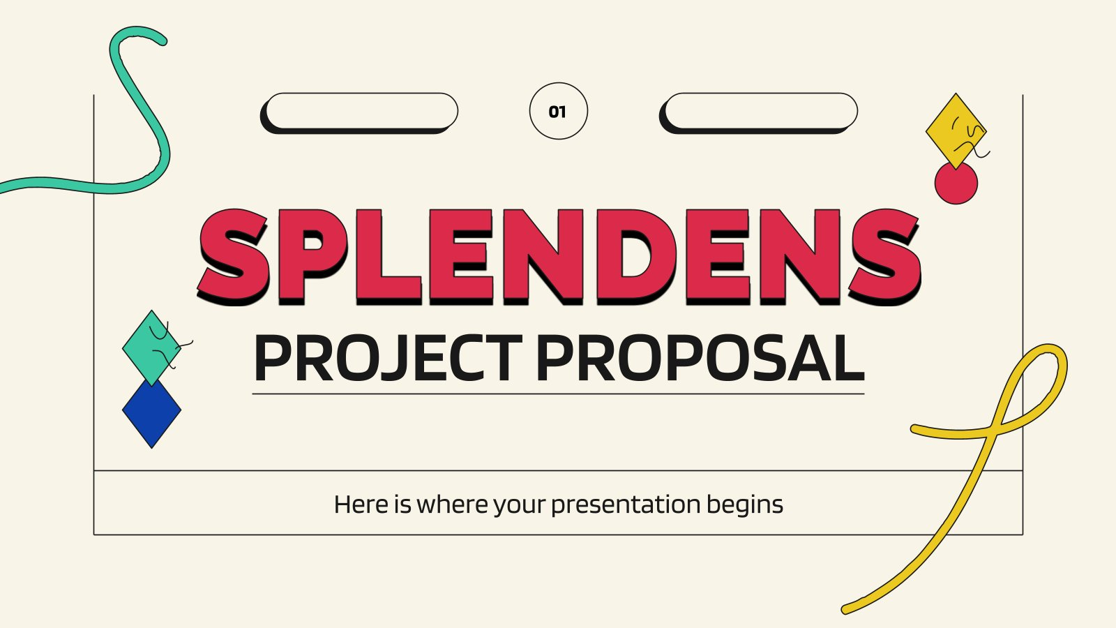 Splendens Project Proposal presentation template