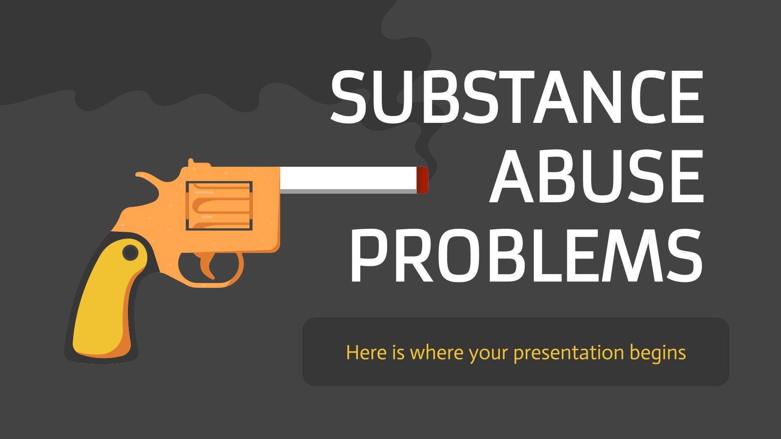 Substance Abuse Problems presentation template
