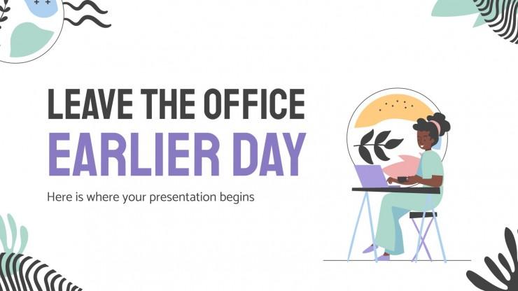 Plantilla de presentación Día de salir antes de la oficina