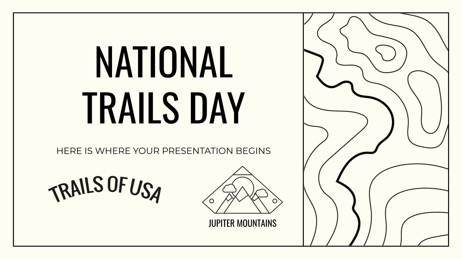 National Trails Day presentation template