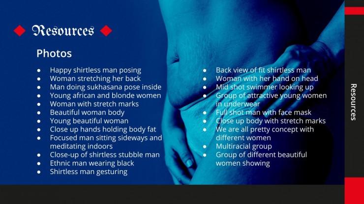Plantilla de presentación Tesis imagen corporal