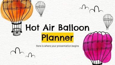 Modelo de apresentação Agenda com balões de ar quente