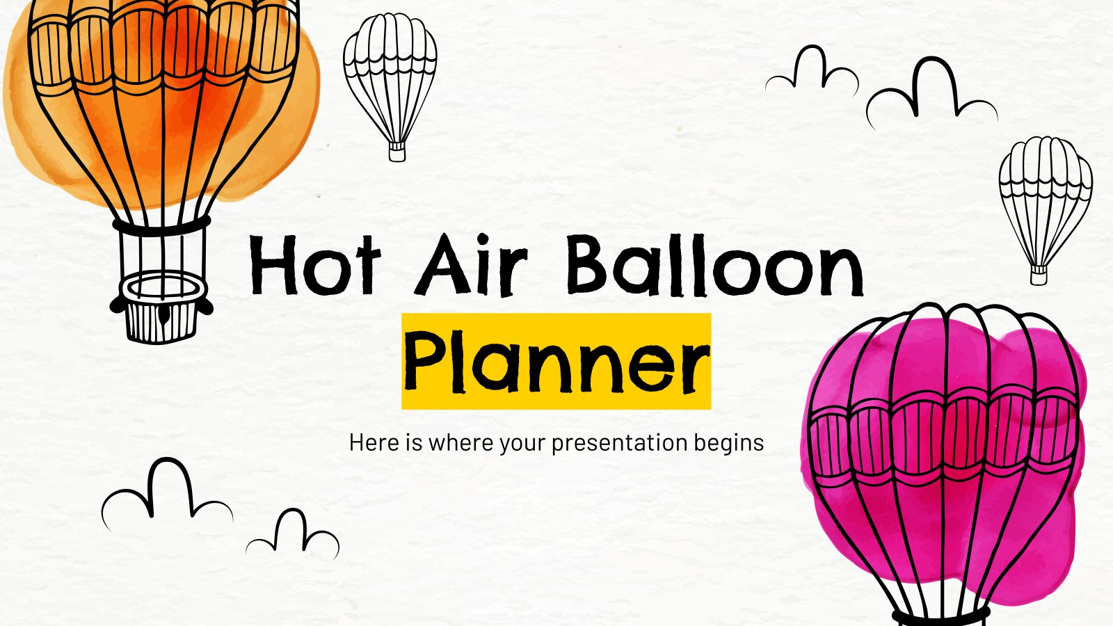 Heißluftballon-Planer Präsentationsvorlage