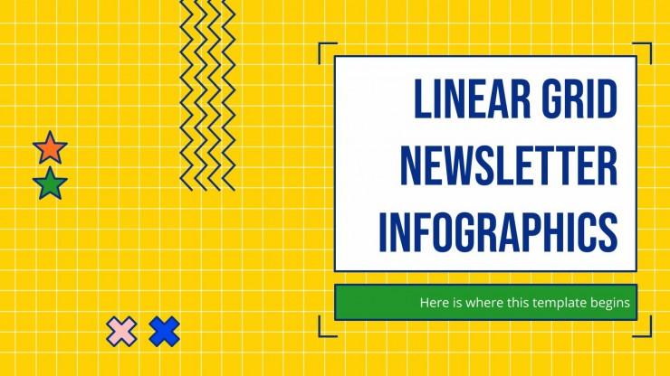 Linear Grid Newsletter Infographics