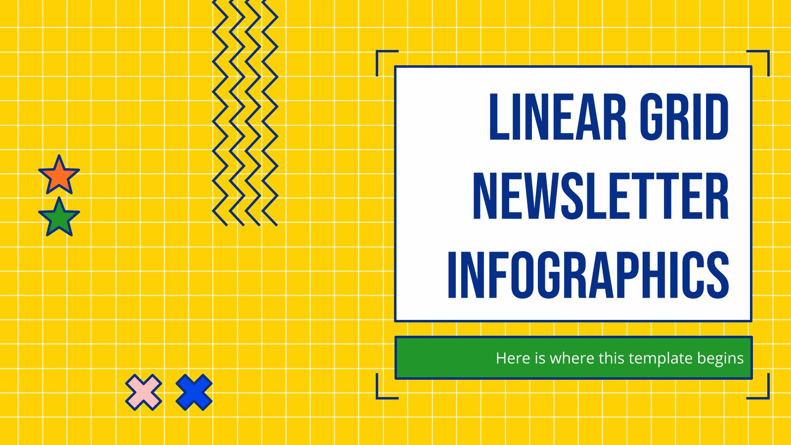 Linear Grid Newsletter Infographics presentation template