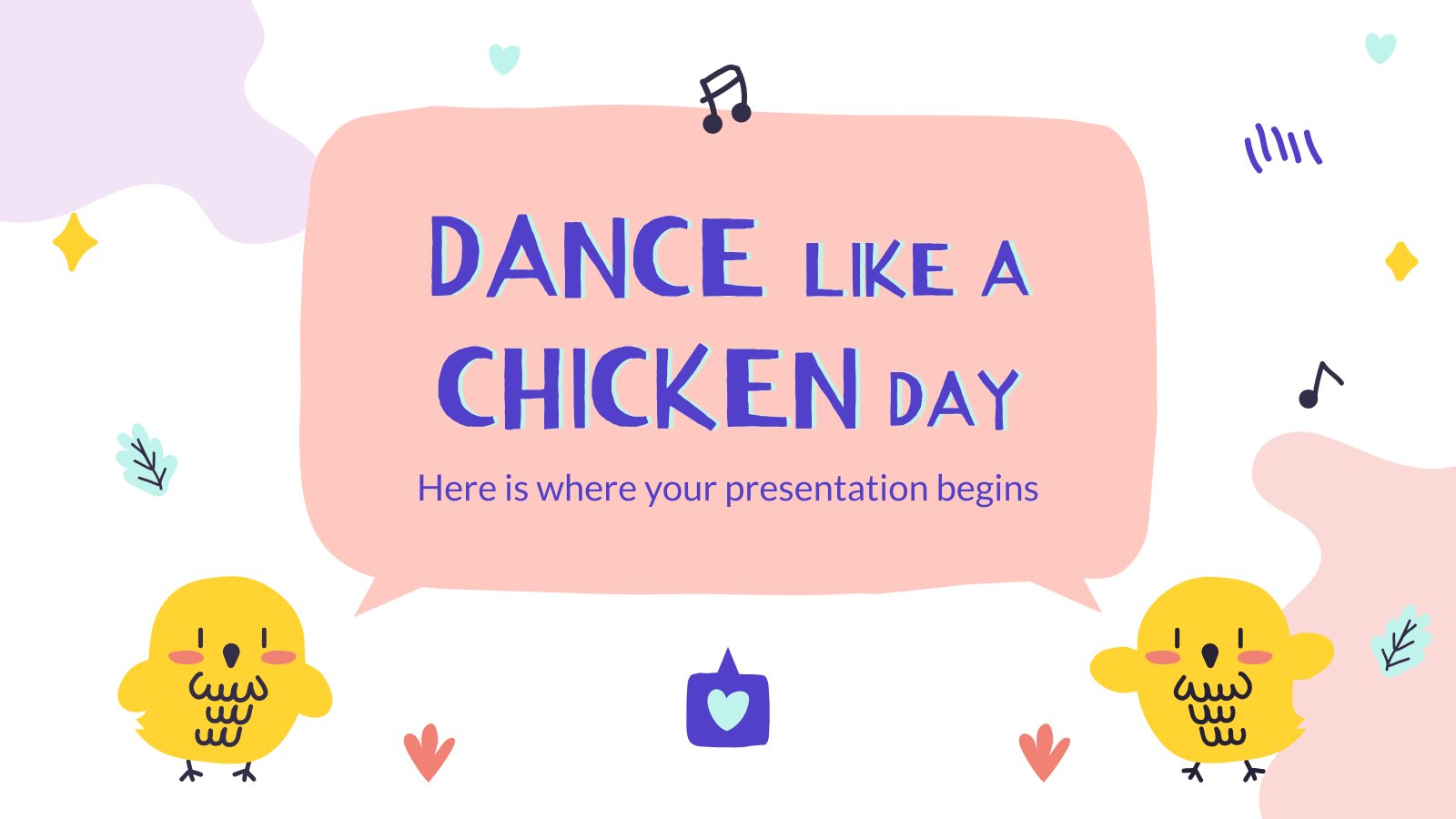 Dance Like a Chicken Day presentation template