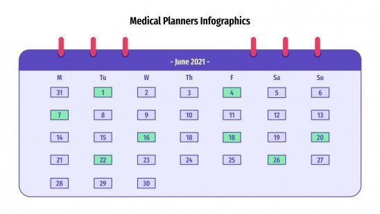 Medical Planners Infographics presentation template