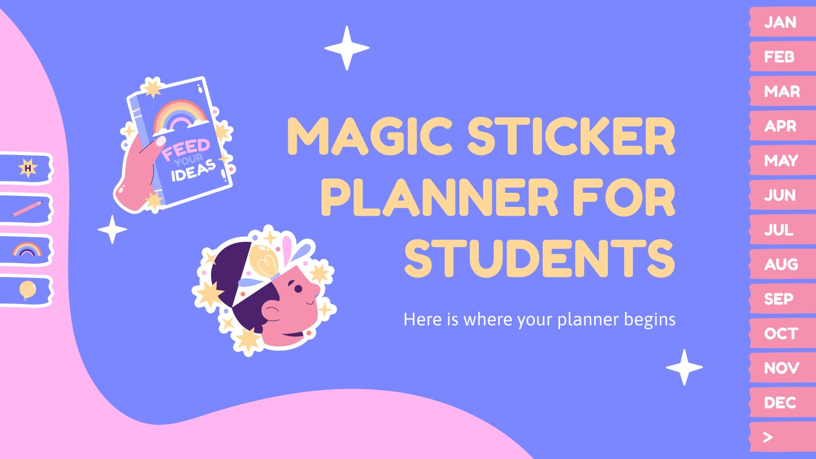 Magic Sticker Planner for Students presentation template