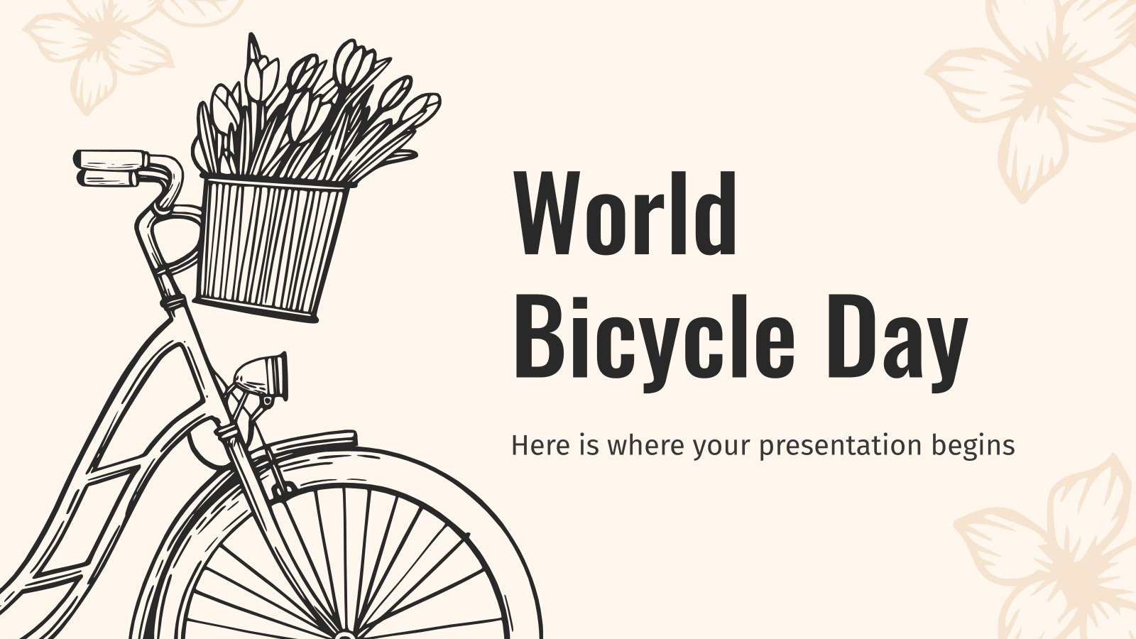 World Bicycle Day presentation template