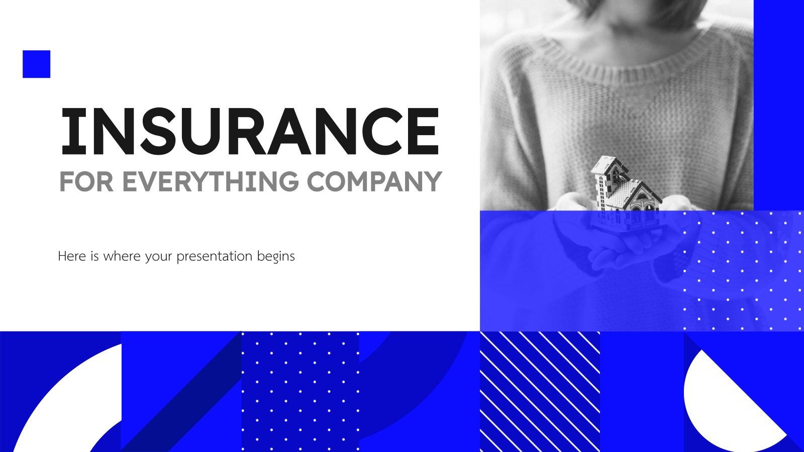 Modelo de apresentação Perfil da companhia de seguros