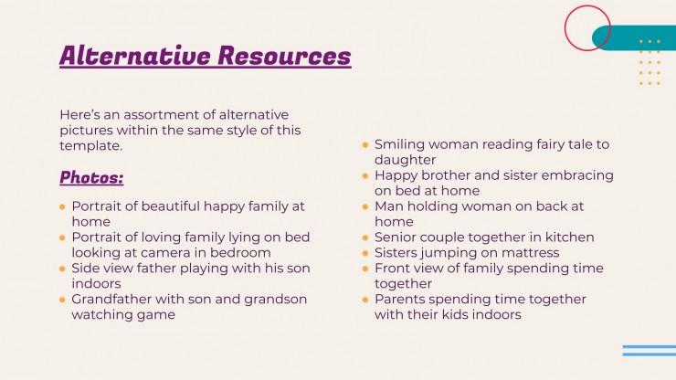 Modelo de apresentação Aproveite o tempo em família