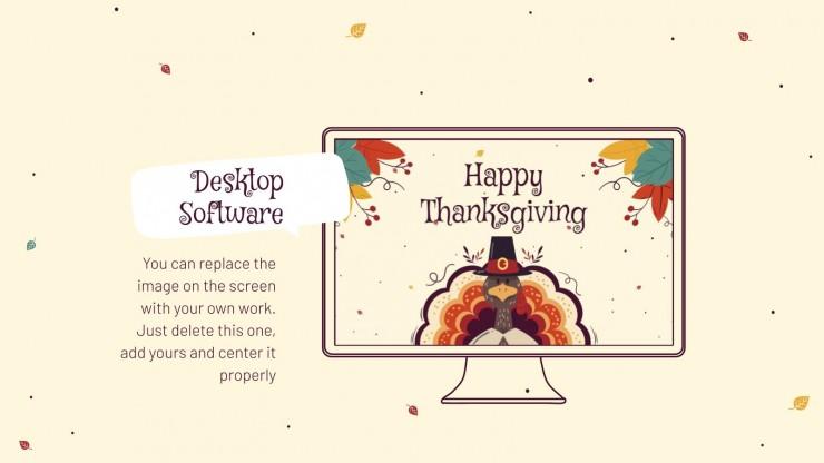 Modelo de apresentação Feliz Dia de Ação de Graças