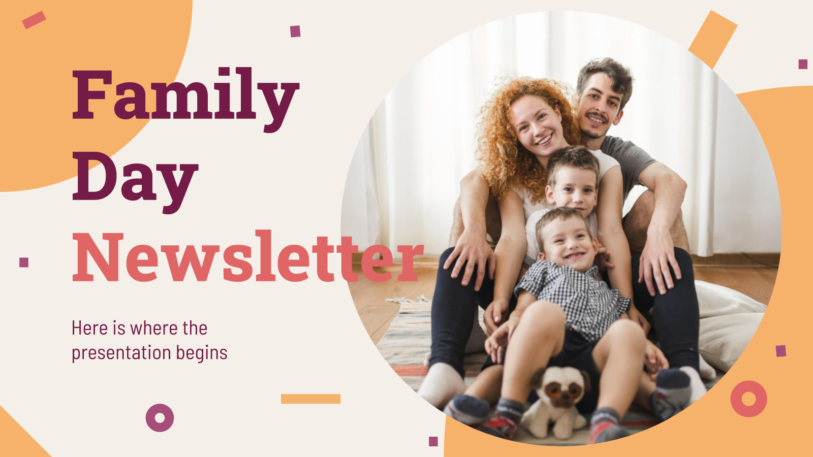Family Day Newsletter presentation template
