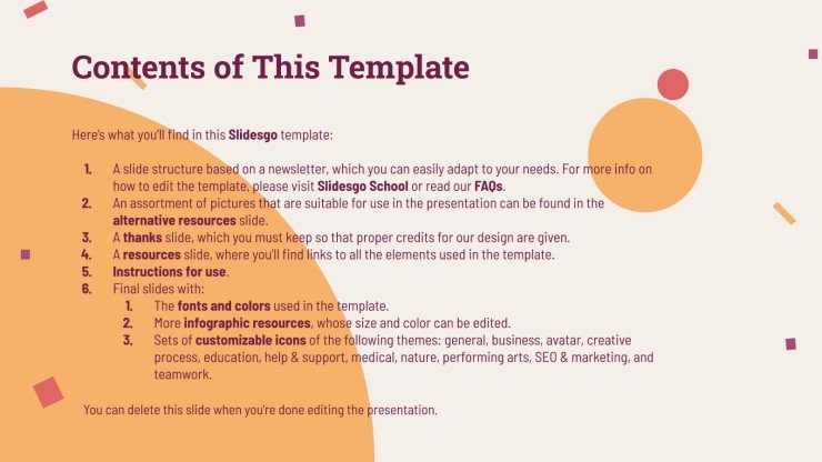Family Day Newsletter presentation template