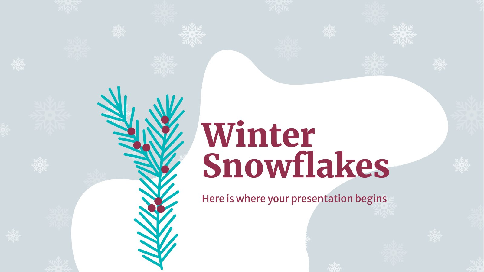 Winter Snowflakes presentation template