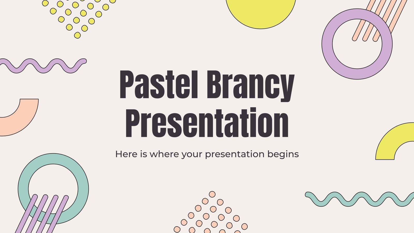 Plantilla de presentación Brancy con tonos pastel