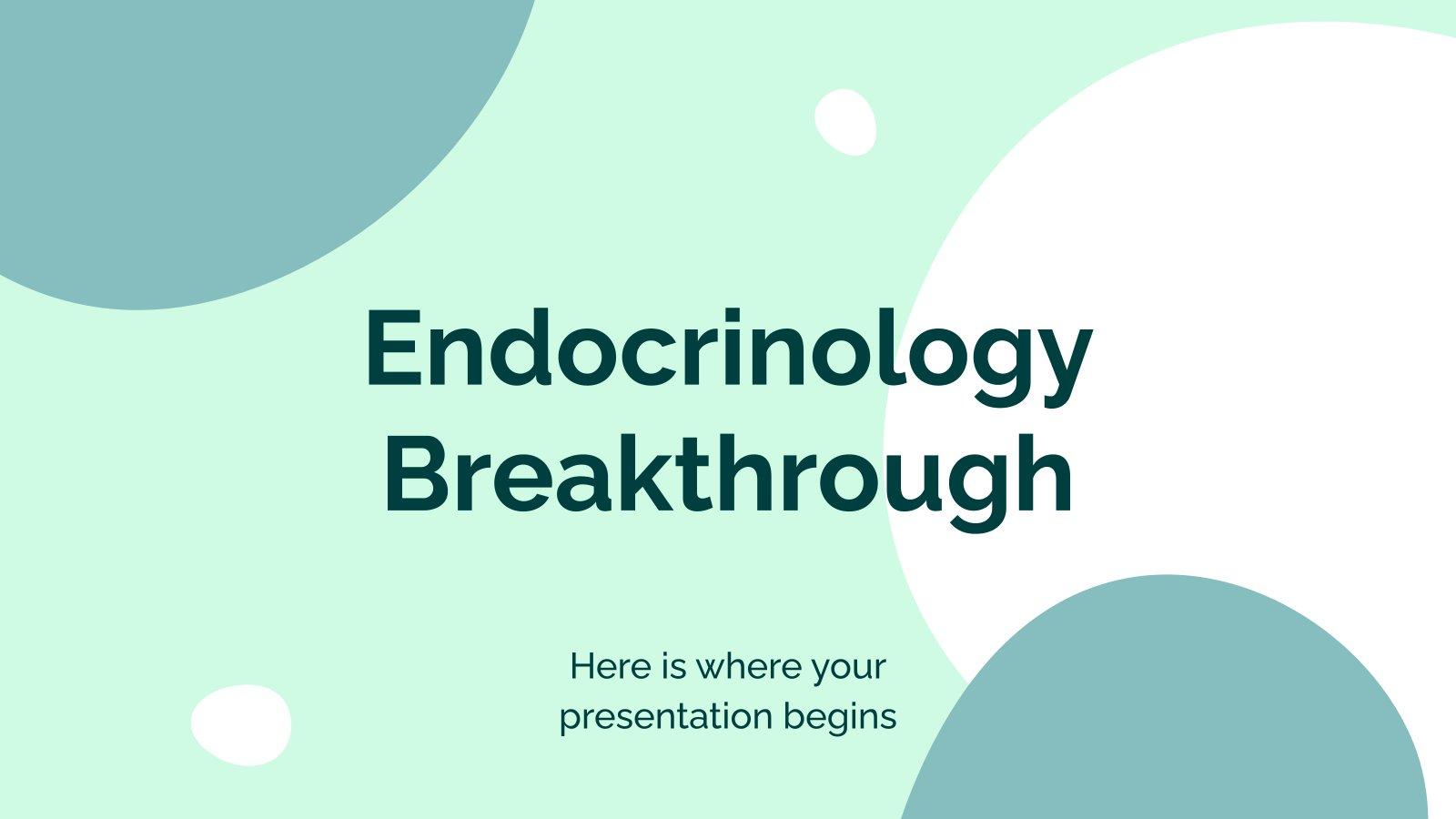 Endokrinologie-Durchbruch Präsentationsvorlage