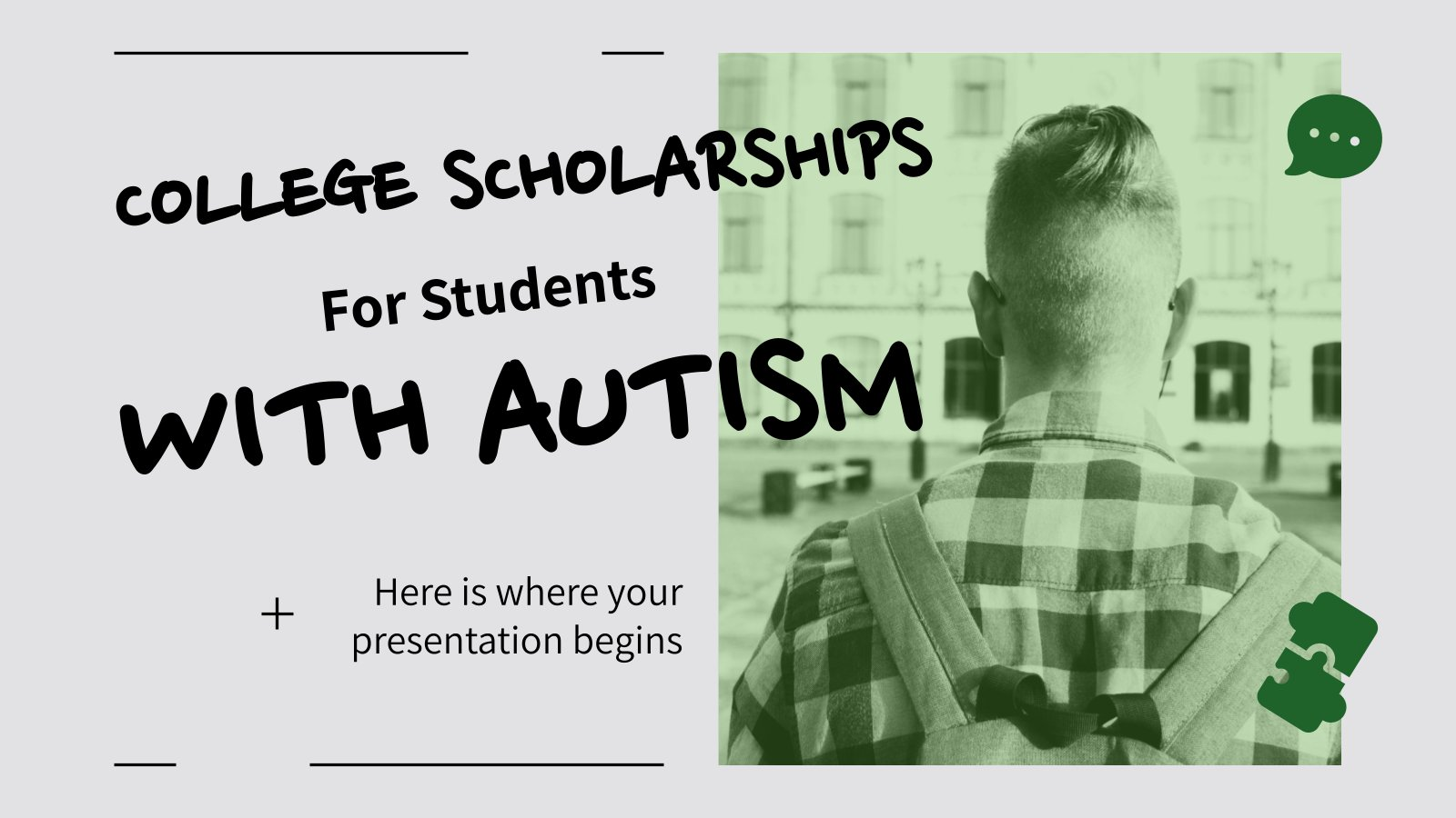 College Scholarships for Students With Autism presentation template