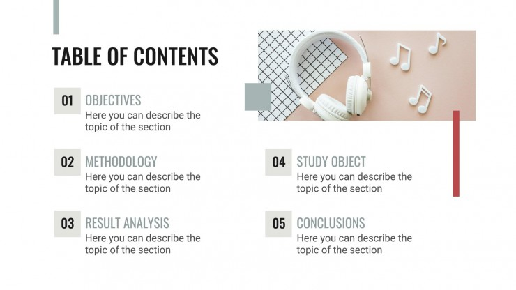 Music as Therapy Thesis presentation template