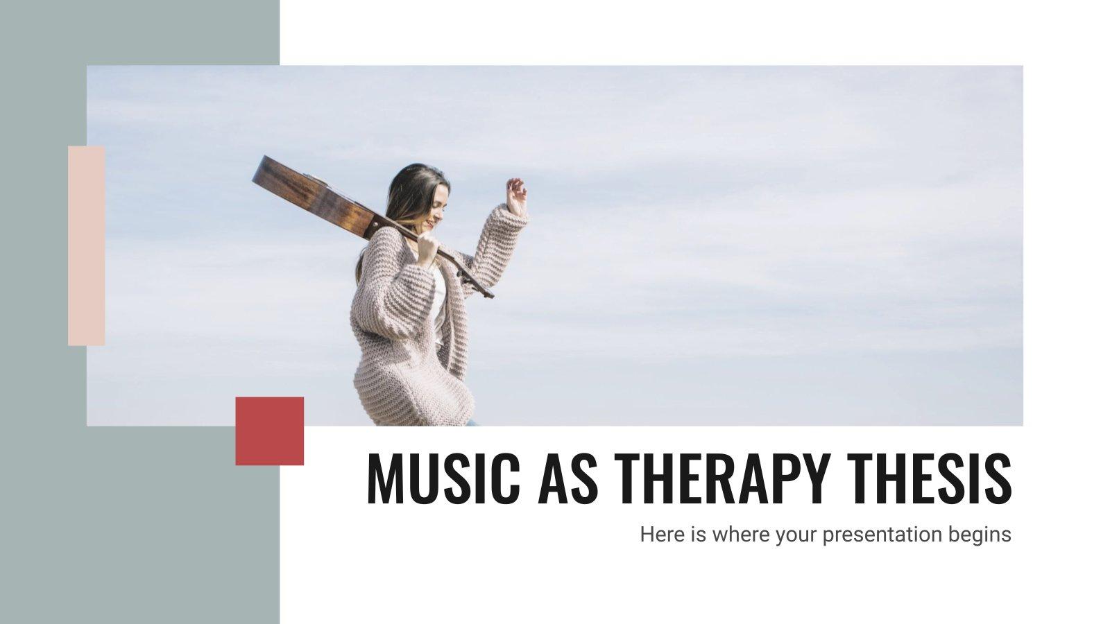 Plantilla de presentación Tesis sobre musicoterapia