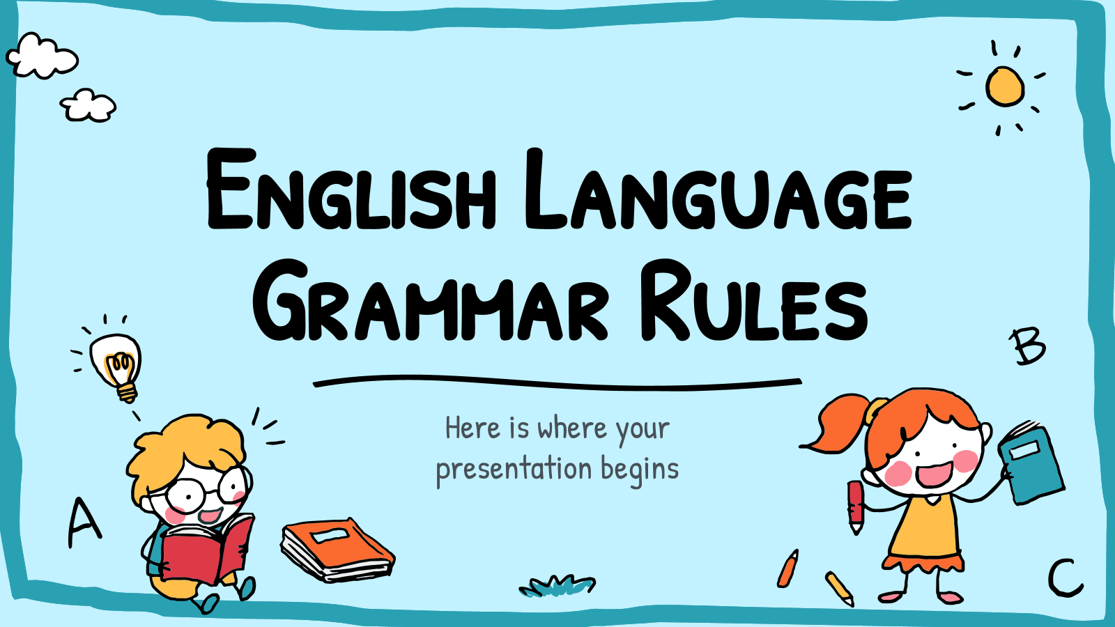 English Language Grammar Rules presentation template